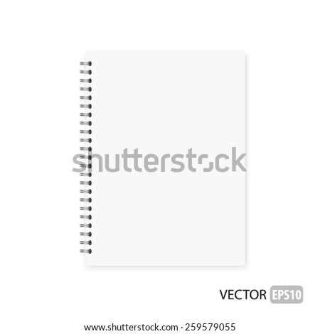 Realistic notebook vector. - stock vector
