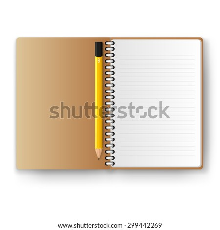 realistic notebook, vector illustration - stock vector
