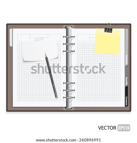 Realistic notepad vector.