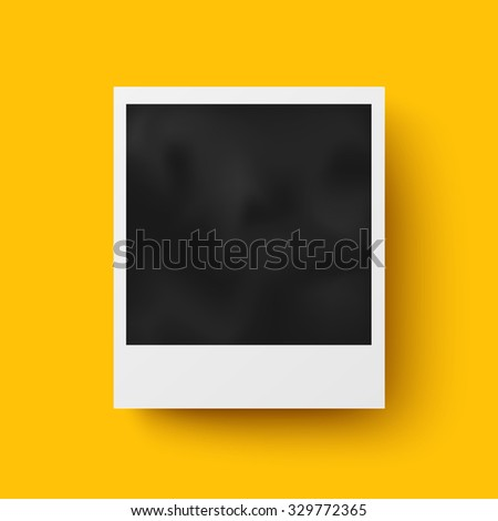 Realistic photo frame with shadow vector design - stock vector