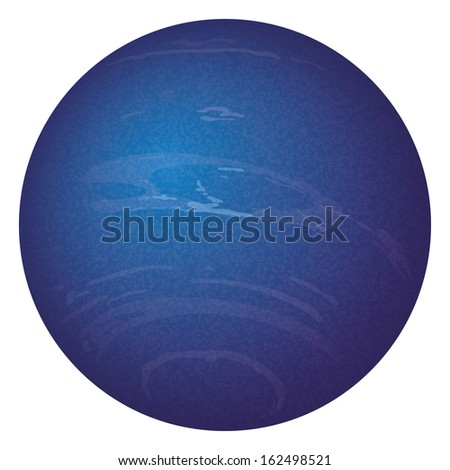Realistic planet Neptune isolated on white background. Elements of this image furnished by NASA (http://solarsystem.nasa.gov). Eps10, contains transparencies. Vector - stock vector