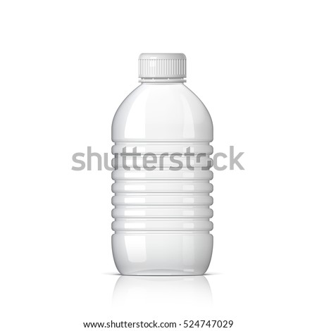 Realistic plastic bottle for water on a white background. Vector illustration
