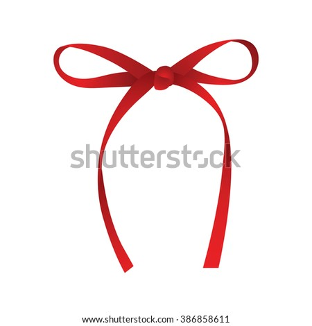 Realistic red gift ribbon