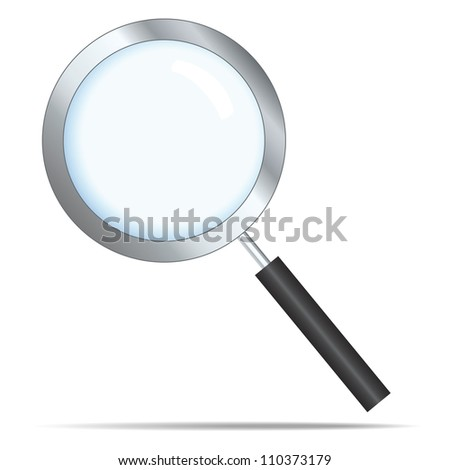 Realistic search icon - stock vector