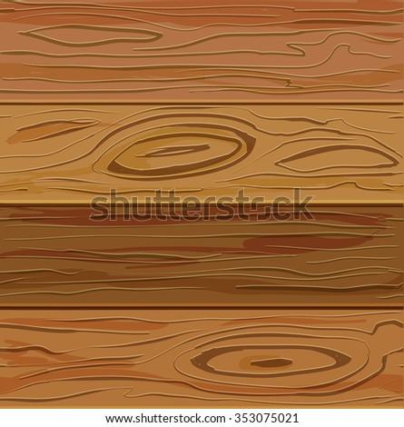 Realistic simple  dark wood texture - stock vector