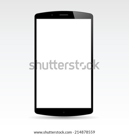 Realistic Smart phone design concept vector - stock vector