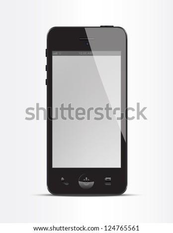Realistic smart phone vector - stock vector