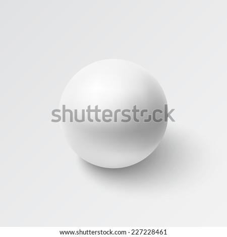 Realistic sphere icon. Vector illustration - stock vector