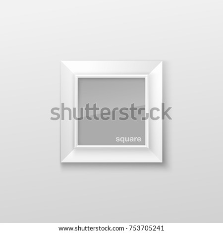 Realistic Square White Blank Picture Frame Stock Vector 753705241 ...
