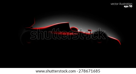 Realistic styled racing car - stock vector