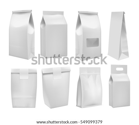 Realistic take away food box mock up set isolated on white background vector illustration. Blank white 3d model cardboard carry package, product container, empty food box. Take away food box template.