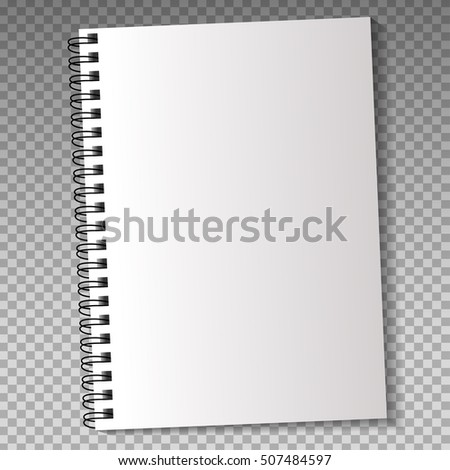 Realistic Template Notebook Pencil Blank Cover Stock Vector ...