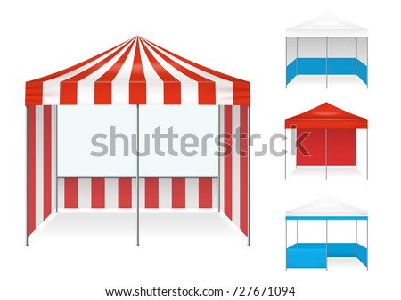 Realistic tent color set of isolated stall type canvas images with different colour scheme and shape  sc 1 st  Shutterstock & Realistic Tent Color Set Isolated Stall Stock Vector 727671094 ...