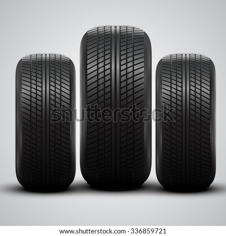 Realistic tires, vector - stock vector