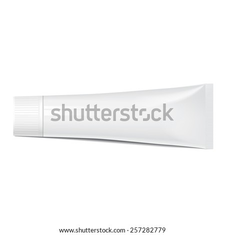 Realistic tube. Mock up For cosmetics, ointments, cream, tooth paste, glue Vector.elements - stock vector