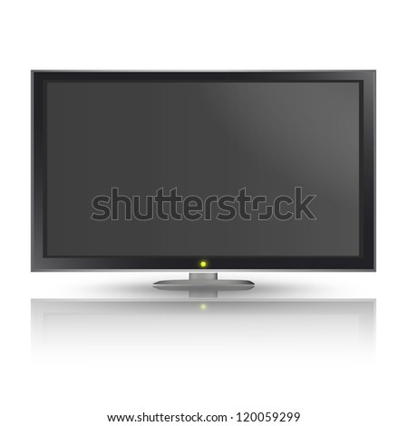 Realistic TV isolated on white background. Vector design. - stock vector