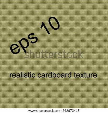 Realistic Vector Cardboard Texture - stock vector