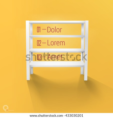 Realistic Vector Design Standing Shelf For Your Sample Product - stock vector