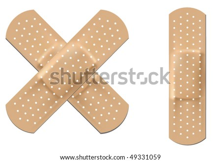 Realistic vector flexible fabric bandage - stock vector