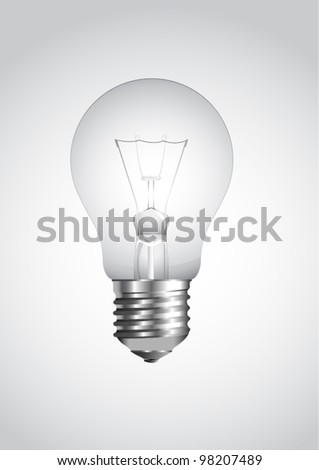 realistic vector illustration of a light bulb isolated on white