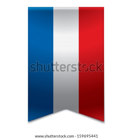 Realistic vector illustration of a ribbon banner with the croatian flag. Could be used for travel or tourism purpose to the country croatia in europe. - stock vector