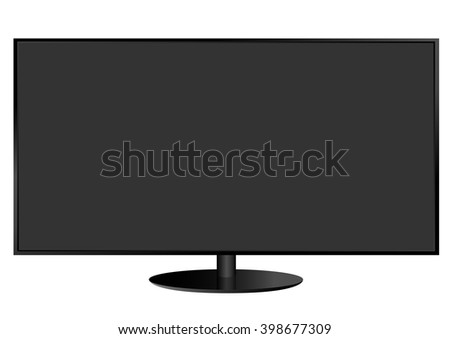 Realistic vector illustration of TV screen. Vector illustration - stock vector