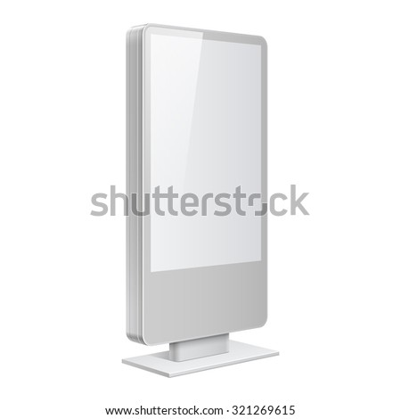 Realistic vector light box. Advertising Stand template on white background - stock vector