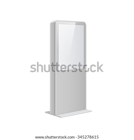 Realistic vector light box template Outdoor on white background