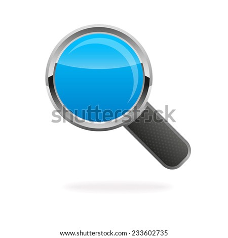 Realistic vector magnifying glass loupe - stock vector