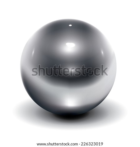 Realistic vector metal ball - stock vector