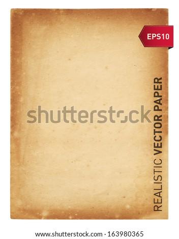 Realistic vector paper - stock vector