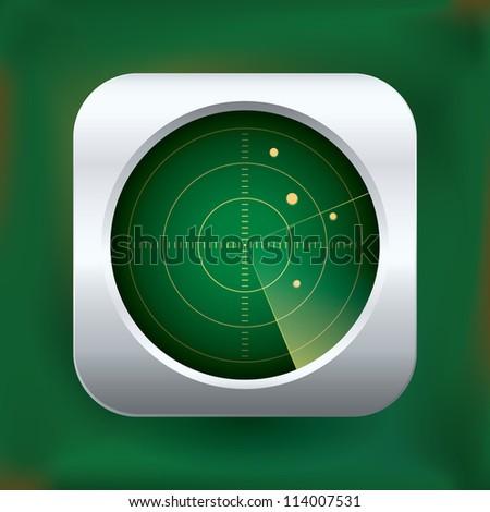 Realistic vector radar icon - stock vector
