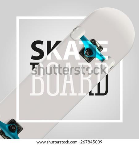 Realistic vector skateboarding label. EPS 10.  - stock vector