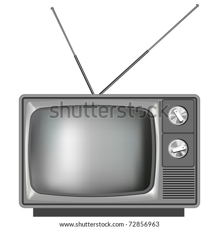 Realistic vector tv television - stock vector
