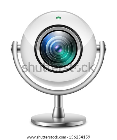 Realistic web camera icon - stock vector