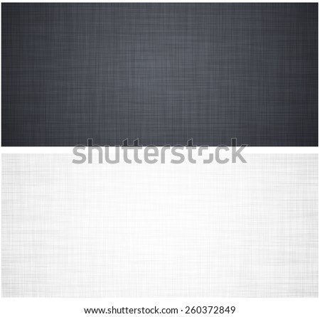 Realistic white and grey linen texture pattern. Vector eps10.  - stock vector
