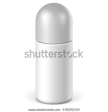 Realistic White Cosmetics bottle can Spray, Deodorant, Air Freshener. Vector illustration