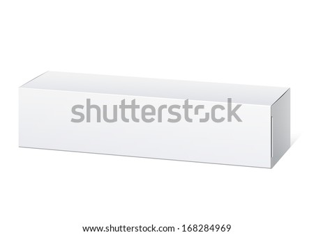 Realistic White Package Box. For cosmetics, ointments, cream, tooth paste and other products. Vector illustration. - stock vector