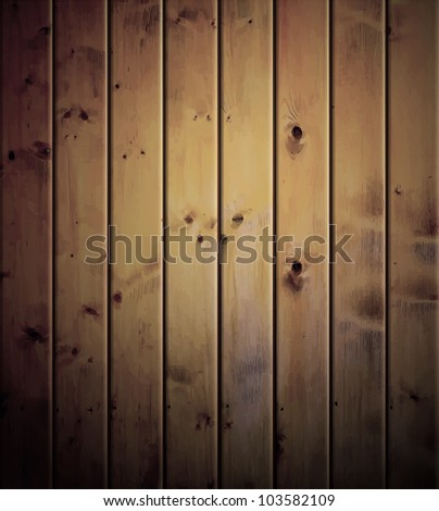 Realistic wood texture background. Eps 10 - stock vector