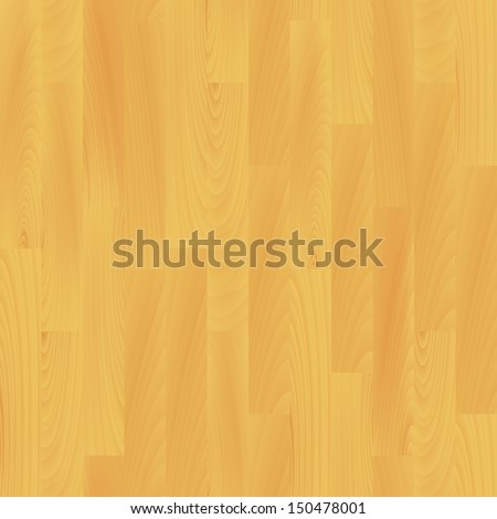 Realistic wooden flooring seamless pattern, vector  - stock vector