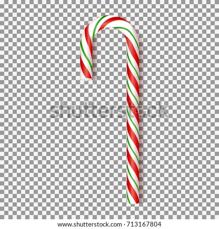 Realistic Xmas Candy Cane Isolated On Stock Vector 713167804   Shutterstock
