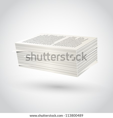 ream. Paper illustration. - stock vector