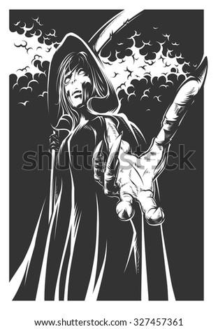 Reaper - stock vector