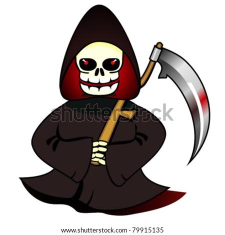 Reaper with scythe - stock vector