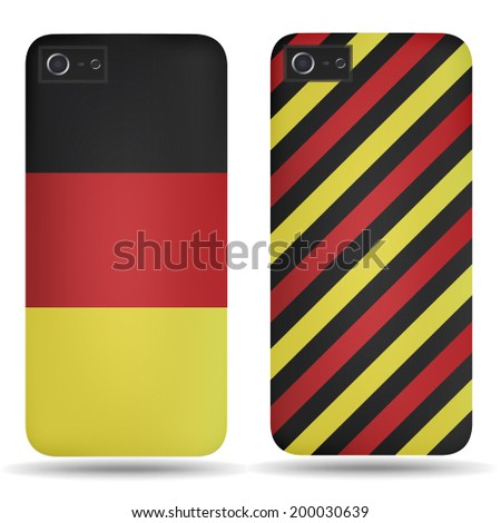 Rear covers smartphone with flags of Germany - stock vector