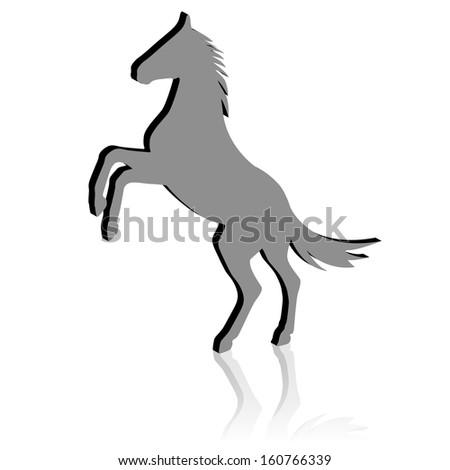 Rearing Horse Silhouet...