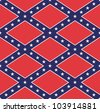 Rebel flag pattern - stock photo