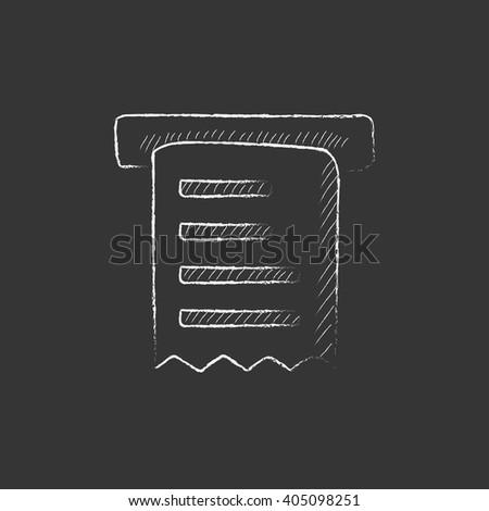 Receipt. Drawn in chalk icon. - stock vector