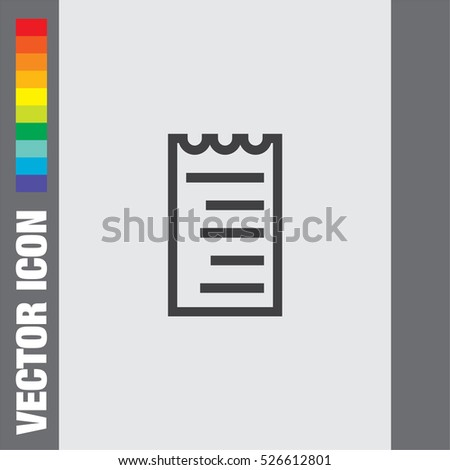 Invoices To Go App Pdf Receipt Icon Stock Images Royaltyfree Images  Vectors  Tax Receipt Organizer Pdf with How Long Do I Need To Keep Receipts Pdf Receipt Line Vector Icon Bill Sign Pay Document Pictograph Business  Invoice Symbol Proforma Invoice Template Download Free Word