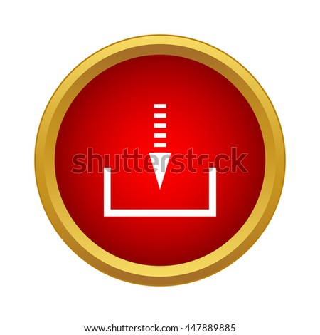 Receive data from a remote storage icon in simple style on a white background - stock vector